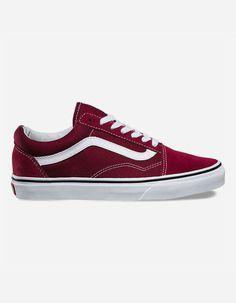 7f8d6715016 VANS Old Skool Burgundy Womens Shoes Vans Old Skool