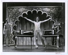 Illusionist Doug Henning's  Zig-Zag Girl Broadway Magic Show saws a girl in half. (1974)