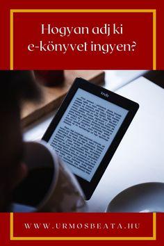Hogyan adj ki e-könyvet ingyen? #magánkiadás