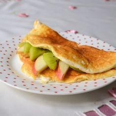 Apple pie omelette
