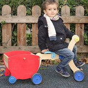 beautiful wooden convertible ride ons, carts, and construction toys - Mishi Design event on #zulily today! Awesome deals.