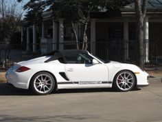 White Porsche Boxster Spyder 2016 Maverick PCA All Member Party (Photo by Bill Orr)