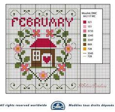 Voilà anche  lo schema DMC  per il mese di Febbraio