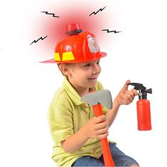 Fireman Hat w/ Firefighter Accessories - Fireman Costume…