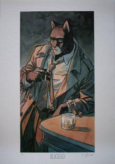 Juanjo Guarnido signée : Blacksad - Bar