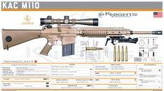 Knight's Armament Company - KAC M110 Military Weapons, Weapons Guns, Guns And Ammo, Springfield Pistols, Concept Weapons, Custom Guns, Hunting Rifles, Cool Guns, Assault Rifle