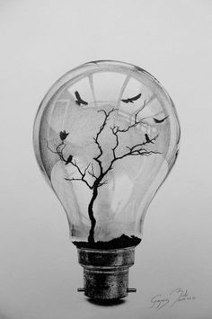 bulb drawing drawings pencil easy cool amazing sketches lightbulb draw tattoo imprisoned hannah tattoos simple sketch things watercolor dibujos flash