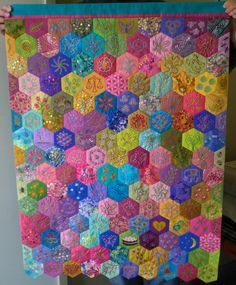 """Katie's Quilt - by Marcie Carr made for her daughter - 26"""" wide by 36"""" long, via Flickr"""