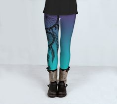 Adults Dreamcatcher yoga fitness gym leggings or 3/4 length by ParadoxYoga on Etsy