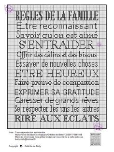 Cross Stitching, Cross Stitch Embroidery, Cross Stitch Patterns, French Quotes, Cross Stitch Alphabet, C2c, Love Words, Diagram, Messages