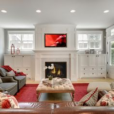 Good Cost-Free wooden Fireplace Remodel Suggestions Disguise ductless with this style? Fireplace Built Ins Design Ideas Pictures R Built In Around Fireplace, Fireplace Built Ins, Fireplace Remodel, Fireplace Surrounds, Fireplace Design, Wooden Fireplace, Fireplace Shelves, Fireplace Ideas, Simple Fireplace