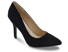 "Greatonu Women's Comfortable Pointed Toe Faux Suede Dress Black Pumps 8 US. Measurement (tested size 6; approx.): Heel height: 4"" Platform height: 0.25"". Comfortable insole: soft cushioned foot-bed won't make you feel painful after long time walking or standing. Sexy stiletto heel: classic point toe and stiletto covered heel enhance the elegant shape of the pumps. Leather insole: breathable leather insole provide you with the best comfort. This classic stylish high heel pumps shoes is the..."