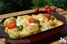 Mozzarellás karfiol Hungarian Recipes, Mashed Potatoes, Mozzarella, Food And Drink, Baking, Ethnic Recipes, Kitchen, Whipped Potatoes, Cooking