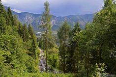 2014 giro-d-italia photos stage-18 - The bottom of the final climb, the cat 1 RIFUGIO PANAROTTA (14.9 km @ 7.6 %, max 14 %)