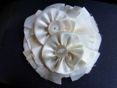 another pinner said: A keepsake brooch made from the remnants of my grandmother's 1942 wedding dress