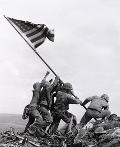 Joe Rosenthal (1911-2006); Flag Raising at Iwo Jima;