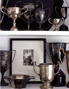 ∷ Variations on a Theme ∷ Collection of Sterling silver trophies. Photo taken by roland bello.