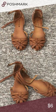 2b10bc0cc074b Cute closed toe sandals Tan closed toe sandals with ankle strap. Super  cute! Shoes