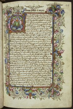 An Old English illumination - the time and detail put into this piece of written word is breathtaking.