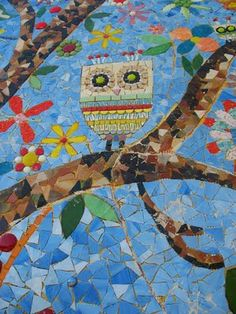Mosaic owl....