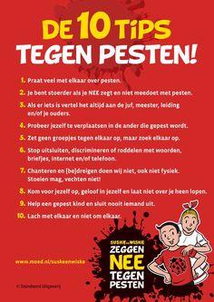 De 10 tips tegen pesten van MOED.nl