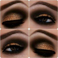 maquillaje smokey eyes black