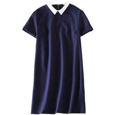 Blue School Collar Dress