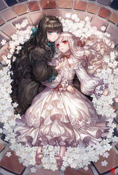 DeviantArt - The largest online art gallery and community Anime Sisters, Anime Siblings, Beautiful Anime Girl, Anime Love, Anime Guys, Anime Naruto, Anime Devil, Anime Angel, Yuri Anime