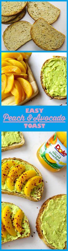 #AvoToast is always a good idea, but avocado toast with DOLE® Jarred Sliced Peaches and chili flakes - Brilliant!