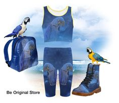 Hyacinth Macaw Outfit by beoriginalstore on Polyvore featuring fashionset, erikakaisersot and beoriginalstore