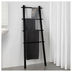 IKEA - VILTO, Towel stand, black, Easy to keep clean as the fabric can be removed and washed. Perfect in a small bathroom. You can hang things from the knobs on the sides. Bathroom Furniture, Bathroom Interior, Modern Bathroom, Small Bathroom, Minimal Bathroom, Antique Furniture, Rustic Furniture, Modern Furniture, Black Bathroom Decor