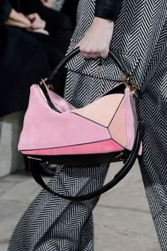 The best accessories spotted at Paris Fashion Week: Loewe handbags