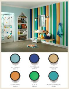 love the stripes. we'll probably end up doing this on one of the kitchen walls.