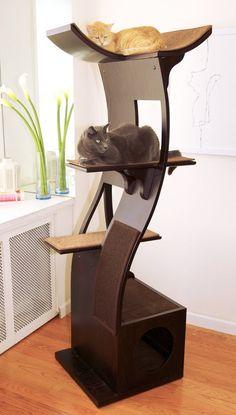 Cool Cat Tree Plans: Best Cat Tree Without Carpet Ideas