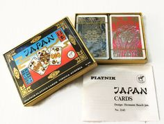 Japan Double Deck Bridge Playing Cards with Case by ThriftyTheresa