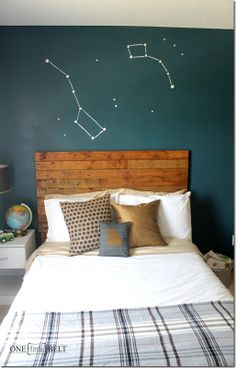constellation as wall art.  What about each others zodiac constellation above the bed our on the ceiling?