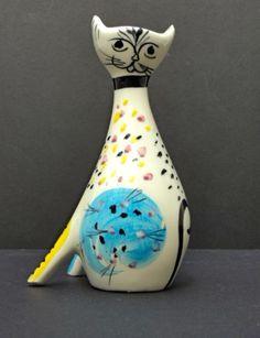 50s Ceramic Cat Vase. Italy