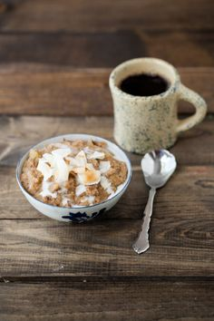 Coconut Rhubarb Amaranth Porridge {via naturally ella}