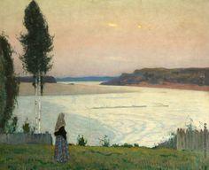 Нестеров Михаил Васильевич [1862—1942] Одиночество. 1932