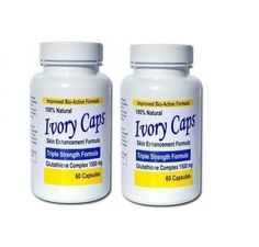 2x Ivory Caps Skin Whitening Lightening Pill Glutathion MAX 1500MG IvoryCaps
