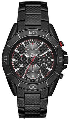 Michael Kors Watches JetMaster Black-Tone Carbon Fiber Watch