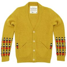 Folk People Cardigan (Golden Yellow )