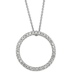 Roberto Coin 18k White Gold Diamond Circle of Life Pendant from Borsheims