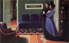 1899 Félix Edouard Vallotton (Swiss artist, 1865-1925) The Visit