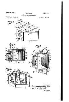 Patent US2557297 - Photographic camera body - Google Patents - 1951