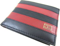 Tommy Hilfiger Men's Worchester Passcase, Navy/Burgundy, One Size Tommy Hilfiger. $29.99. Bill compartment. Extra storage compartments. Removable pass. 6 credit card pockets. 100% Cowhide Leather. Hand Wash. Save 38%!
