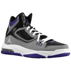4c3599fe60a Jordan Flight 23 RST - Big Kids - Basketball - Shoes - Black/White/Cool Grey/Club  Purple
