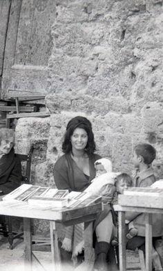 Sophia Loren with Her Children, Italy