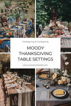 Thanksgiving Tablescapes: Unique, Modern