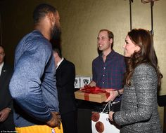 Prince William and Kate Middleton visit the Barclays Center to watch LeBron James' Cleveland Cavaliers beat Brooklyn Nets | Daily Mail Online